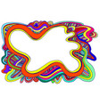 rainbow colors abstract decorative doodles waves vector image