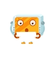 Reading Paper Little Robot Character vector image vector image