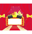 Red carpet Hollywood premier abstract cardmovie vector image