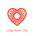 red fretwork heart happy valentines day vector image