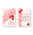 romantic invitation with red hearts vector image vector image