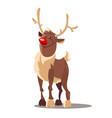 rudolph reindeer christmas vector image vector image
