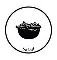 Salad in plate icon vector image vector image