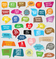 sale stickers modern design collection vector image vector image