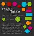 schema diagram builder set vector image vector image