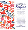 seafood page design vector image vector image