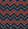 seamless knitted winter textile pattern vector image