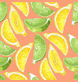 seamless summer pattern with citrus slices of vector image