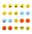 set of emojis on isolated white background vector image vector image