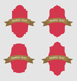 set retro vintage ribbons badges and labels vector image vector image
