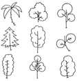 Simple tree on doodles vector image vector image