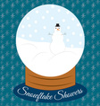 Snowflake Showers vector image vector image