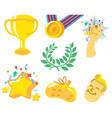 soccer champion element design vector image vector image