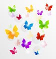 Spring wallpaper with painted butterflies vector image vector image