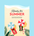 summer holidays and tropical vacation poster vector image vector image