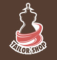 tailor shop or atelier icon mannequin or dummy and vector image vector image