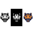tiger icon with three color variations vector image vector image
