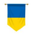ukraine pennant vector image vector image