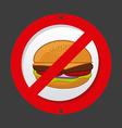 unhealthy food vector image