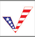 us flag check mark concept symbol vector image