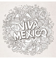 viva mexico sketchy outline festive background vector image vector image