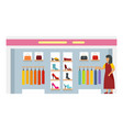 woman shop boutique icon flat style vector image