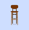 wooden bar chair on blue background detailed vector image vector image