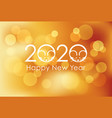 year rat new years card template vector image vector image