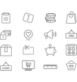 Shopping icons set Simple design vector image