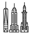new york skyline line icon sign vector image