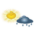 emoji emoticons in the form of sun and clouds vector image