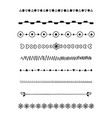 0017 hand drawn dividers vector image vector image