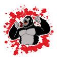 angry king kong big gorilla vector image vector image
