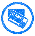 bank cards rounded grainy icon vector image vector image