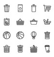 basket icons vector image vector image