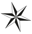 black and white 6 point star silhouette vector image vector image