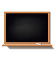 Black school board isolated on white background vector image