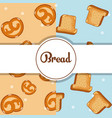 breads pattern background vector image vector image