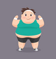 cartoon fat man in a sports uniform vector image vector image