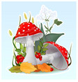 cartoon fly-agaric muchroom vector image vector image