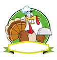 Cartoon turkey vector image