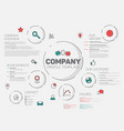 company infographic profile design template vector image vector image