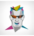 Conceptual polygonal face of a man with sunglasses vector image