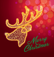 deerreindeermerry christmasstar vector image