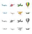 design of plane and transport symbol vector image