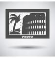 Digital photo frame icon vector image vector image