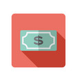dollar money banknote icon vector image vector image