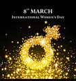 elegant international womens day background vector image