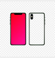 flat smartphone design isolated mobile phone vector image vector image