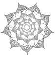 flower mandala design elements vector image vector image